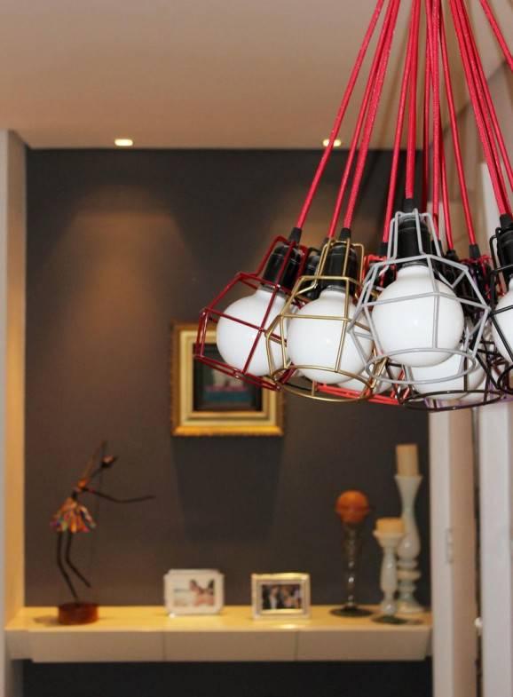 Luminárias criativas vermelha