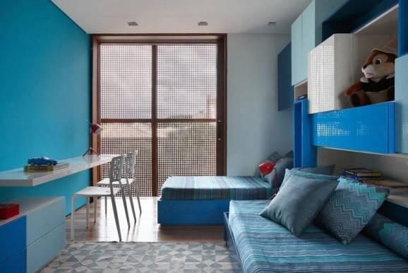 Como organizar o seu quarto azul