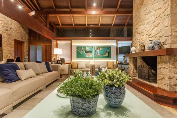 lareira sala de estar