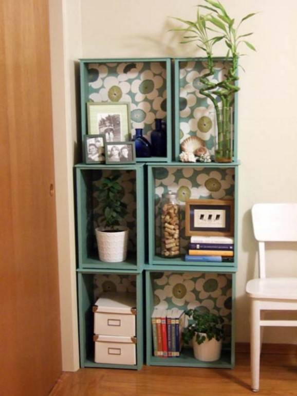 Como fazer prateleiras caixas