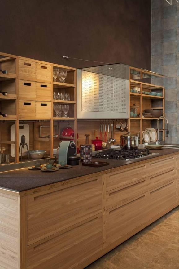 Como decorar a cozinha cozinha em madeira