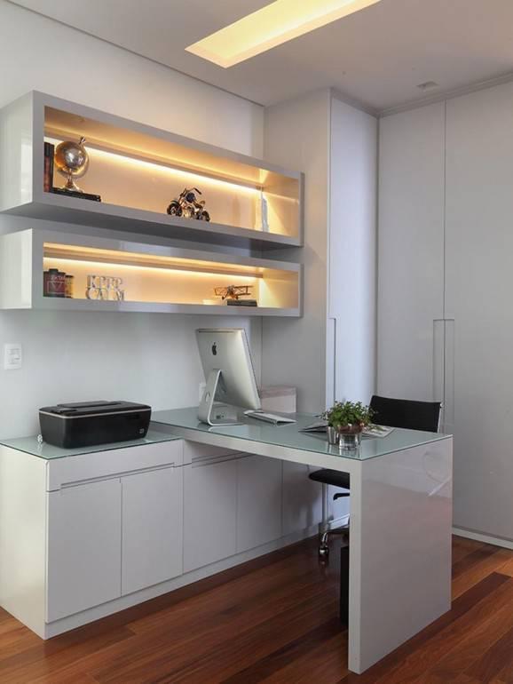 dicas de como montar um home office branco