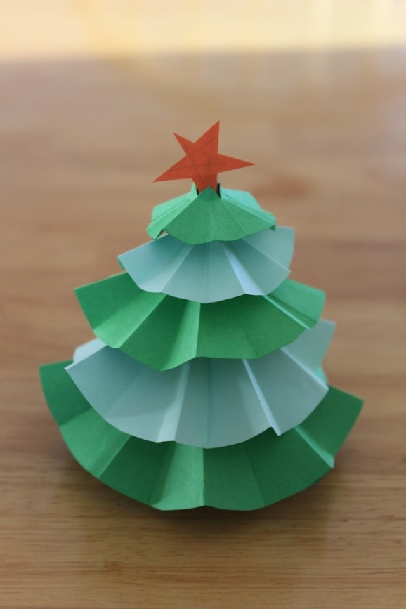 ideias para árvore de natal papel