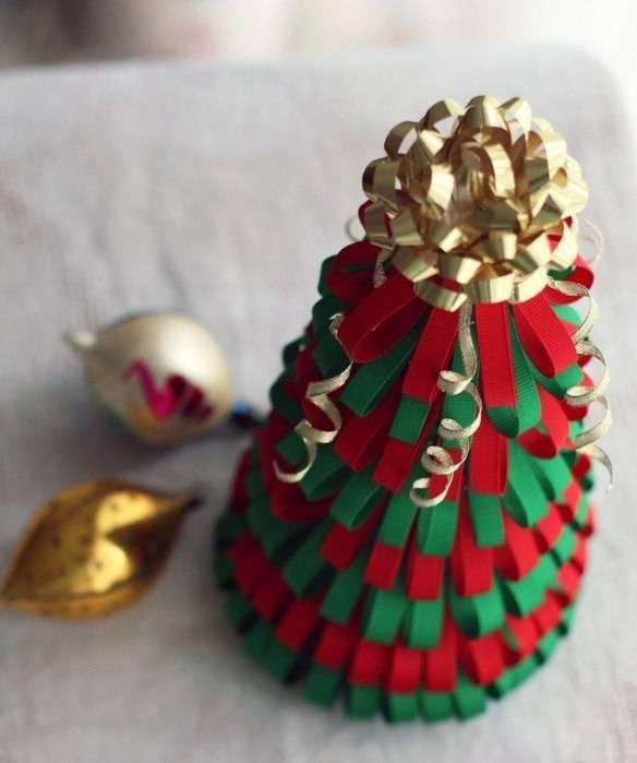 ideias para árvore de natal fitas