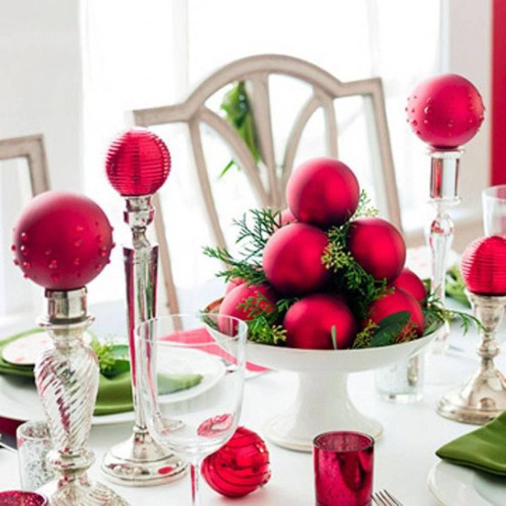 Decoração de Natal vermelha e verde