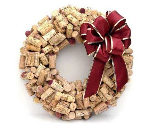 rolha guirlandas diferentes de Natal