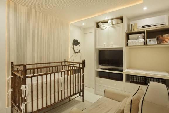 decorar quarto de bebê clean berço em madeira