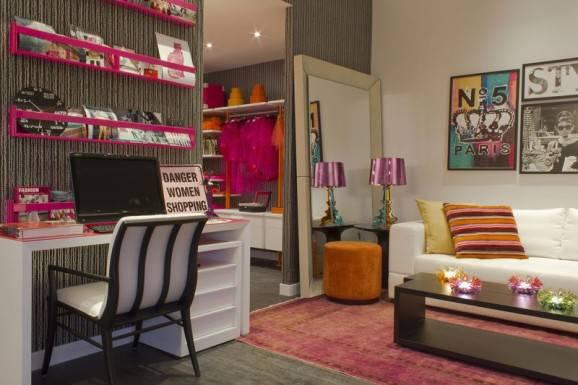 acessórios para escritório home office rosa