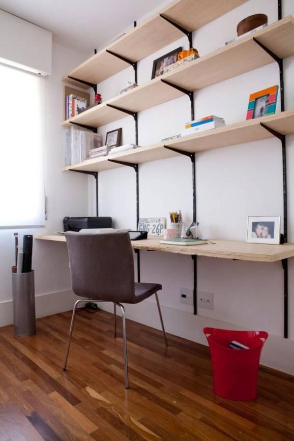 home office sustentável prateleiras de mdf