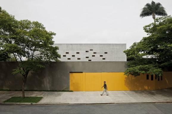 Modelos de portão amarelos