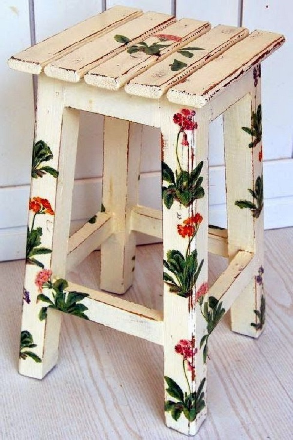 Reforma de cadeira flores