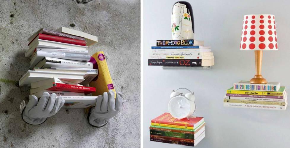 prateleiras-criativas-com-livros prateleiras para livros
