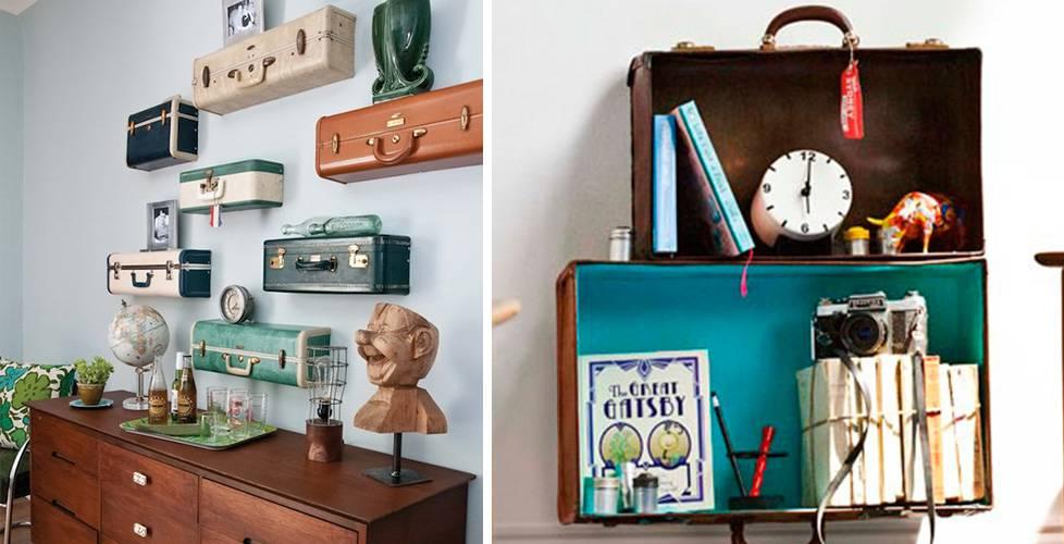 prateleiras-criativas-com-malas prateleiras para livros