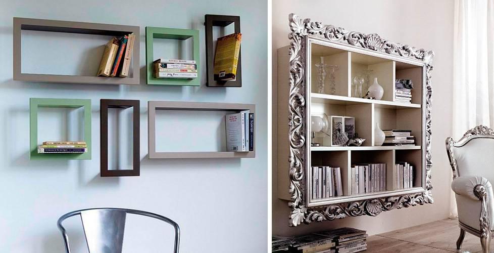 prateleiras-criativas-com-molduras prateleiras para livros