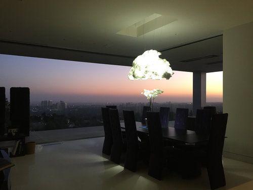 Luminária Nuvem na sala de jantar