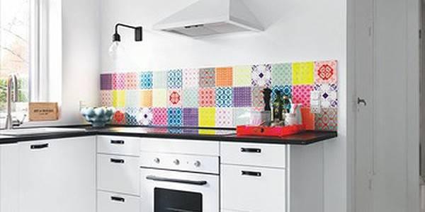 Decoração na cozinha colorida