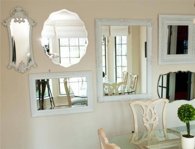 Espelhos na decoraç u00e3o da Sala de Jantar # Decoração De Sala De Jantar Com Espelho Redondo