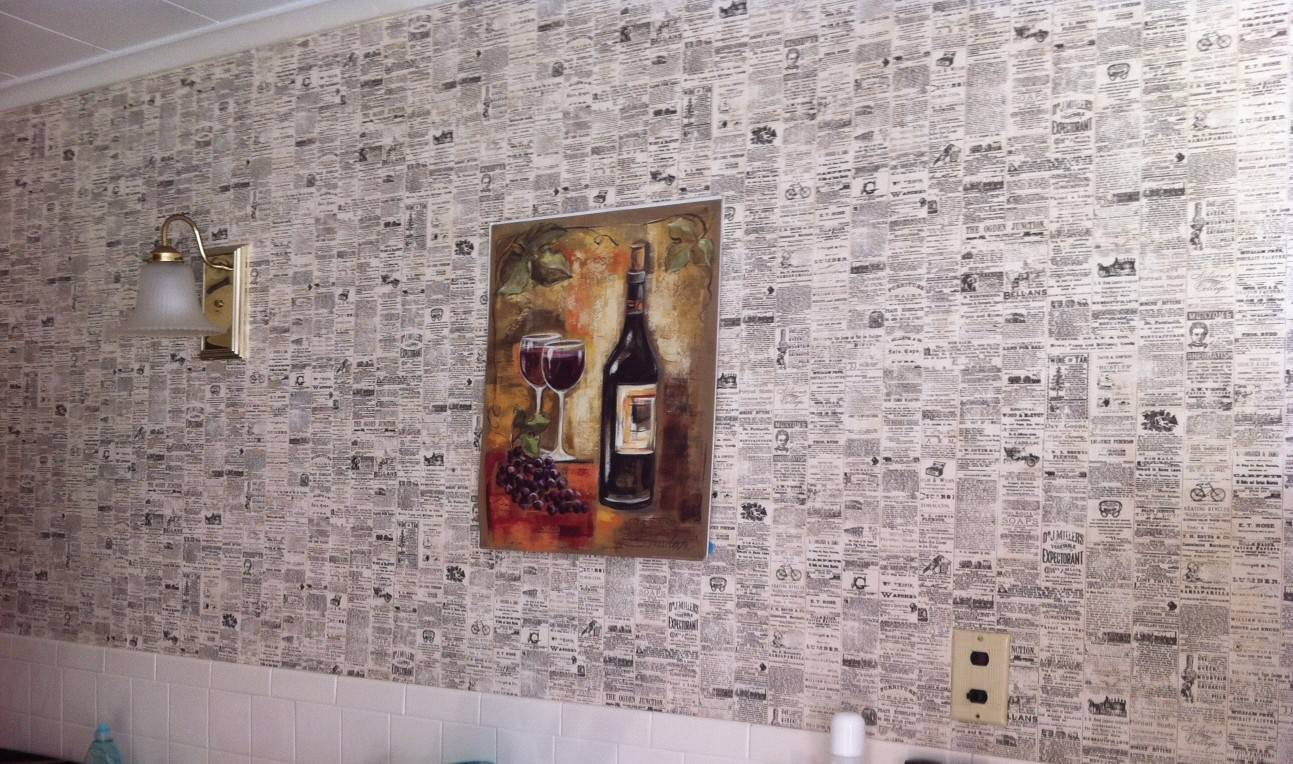 parede de jornal
