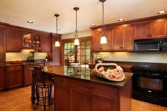 Decoração rústica na cozinha