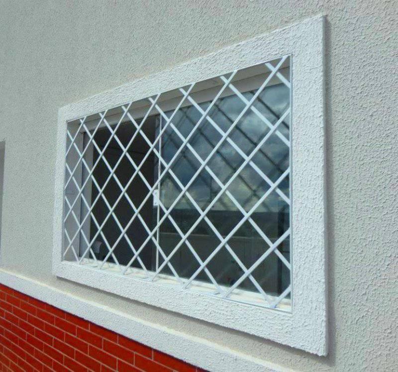 1__grande Grades para janelas de diamante