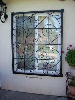 Grades para janelas com desenho
