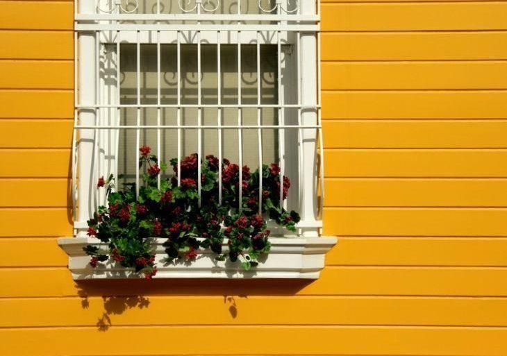Grades para janela com flores na decoração- Foto: iStock