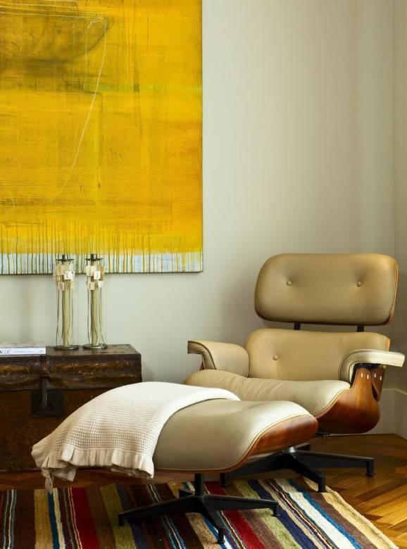 sala de estar poltrona tapetes
