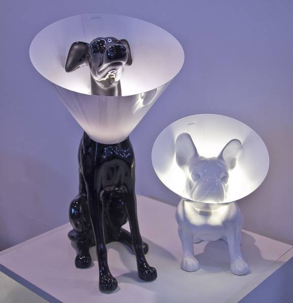 luminaria abajur cachorro Dog light paralela