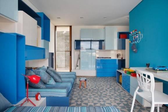 decoração para daltonicos quarto azul monocromatico