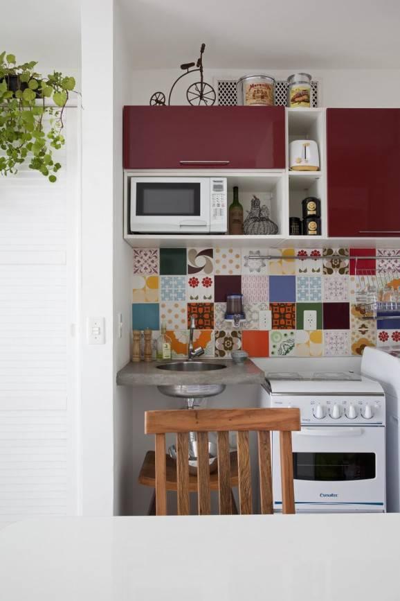 ladrilhos coloridos azulejos cozinha construção sustentável