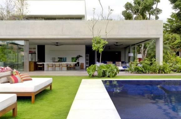 processo de reforma area externa piscina
