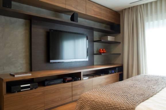 Decoração para quarto de casal tv quarto cama