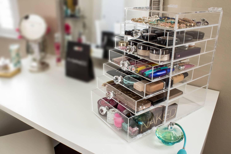 como organizar maquiagem