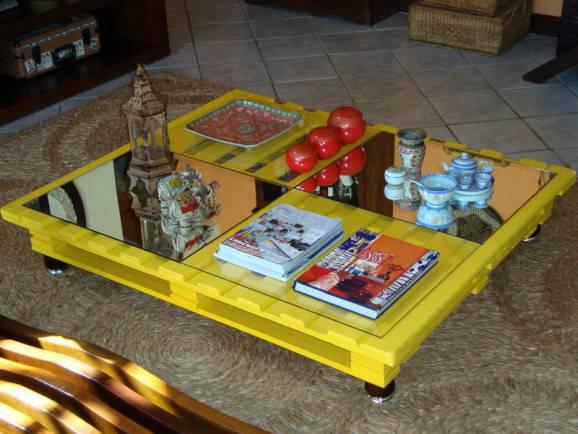 Decoração com pallets de madeira  mesa de pallet