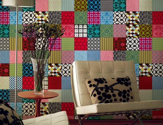 vivadecora patchwork azulejo tecido para decoração