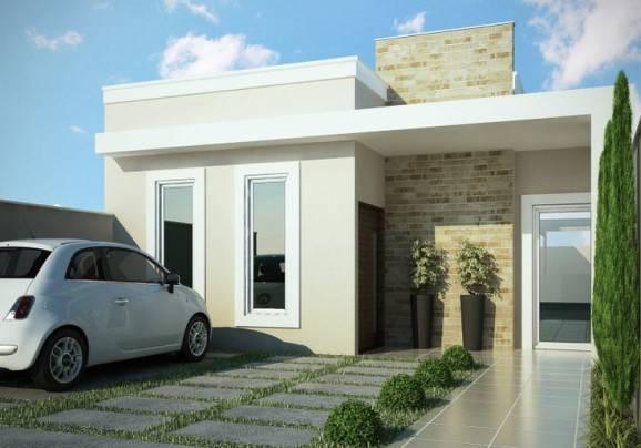 fachadas de casas pequenas clean