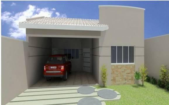 fachadas de casas pequenas garagem coberta