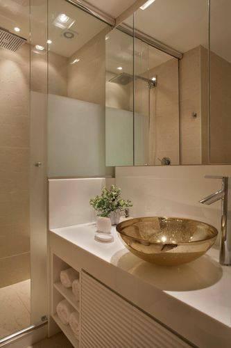 35 Banheiros Pequenos com Dicas e Inspirações para Você -> Banheiro Pequeno Zen