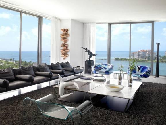 modelos de sofá couro preto