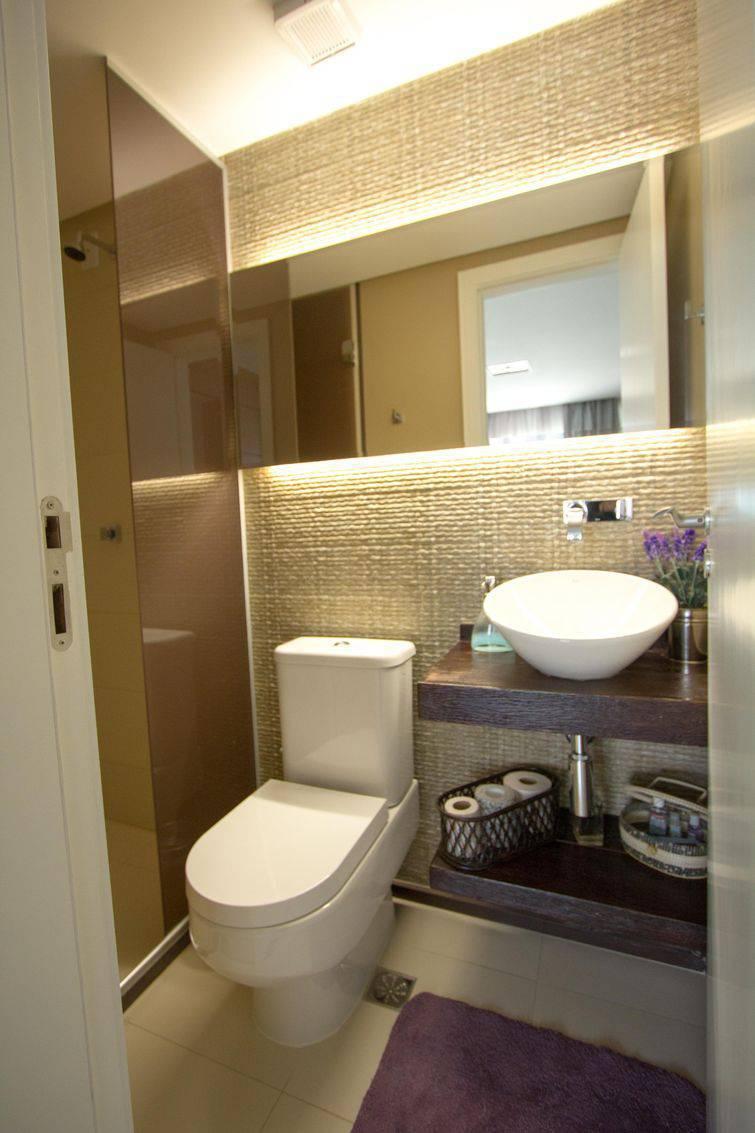35 Banheiros Pequenos com Dicas e Inspirações para Você -> Banheiro Pequeno Iluminacao