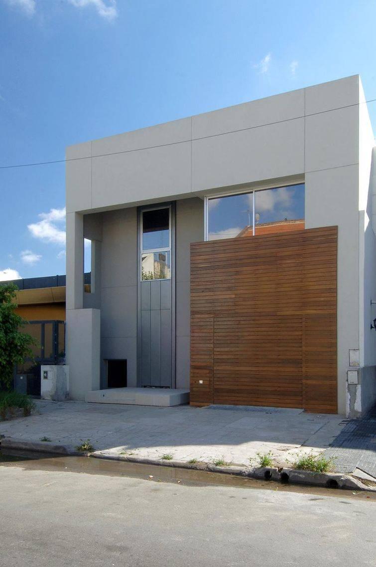 fachadas de casas discreta de madeira