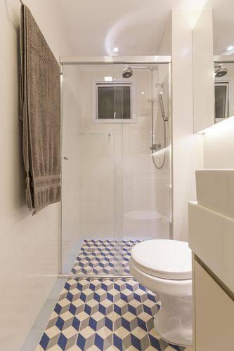 Piso geométrico para banheiro