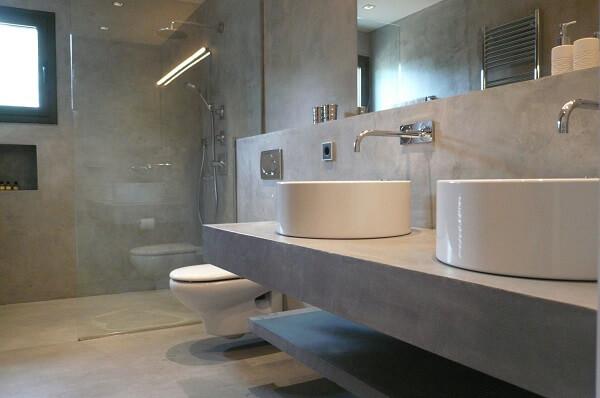 Piso para banheiro cimento queimado