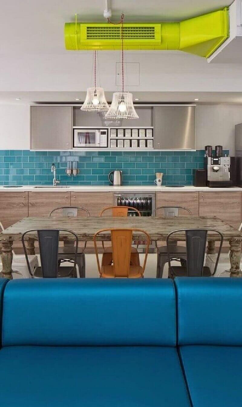 Revestimento para cozinha azul