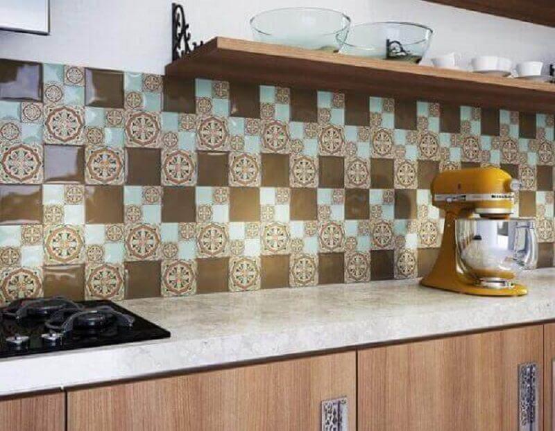 Revestimento para cozinha azulejos estampados