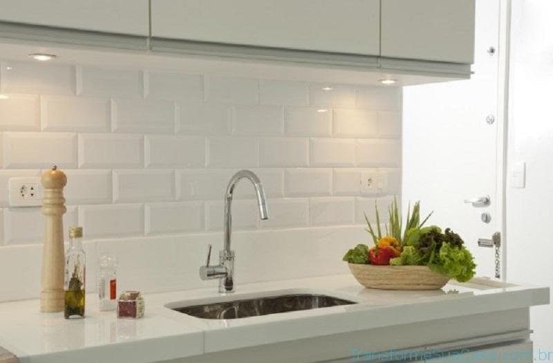 Revestimento para cozinha branco