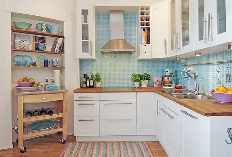 Revestimento para cozinha com pastilhas