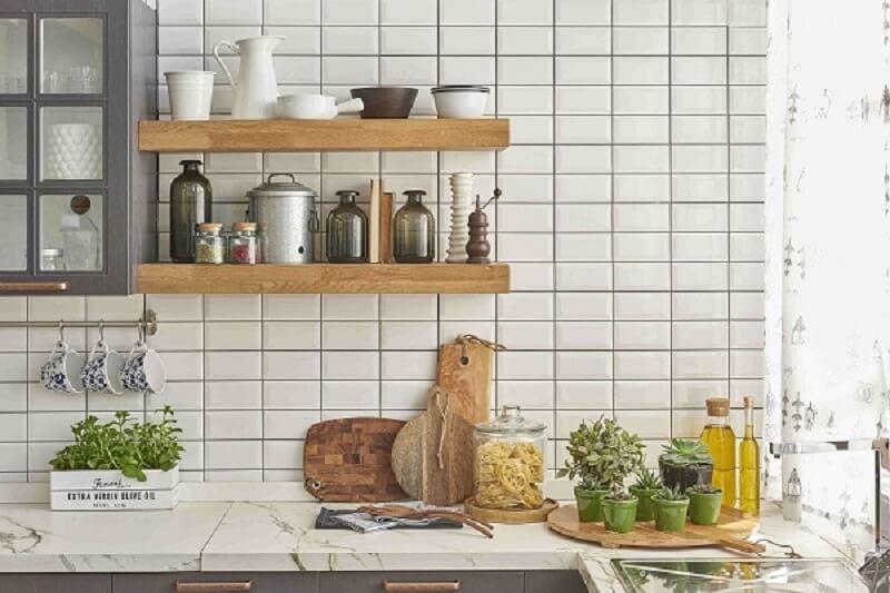 Revestimento para cozinha retrô