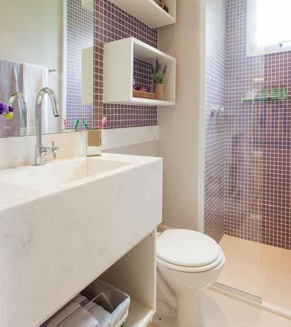 31 Banheiros Pequenos com Dicas e Inspirações para Você -> Decoracao De Banheiro Feminino Pequeno