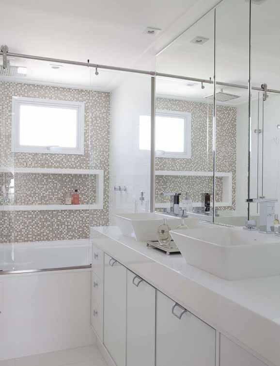 Decoração de banheiro pequeno, dicas pra melhorar o ambiente -> Decoracao De Banheiros Super Pequenos